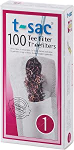 T-Sac Tea Filter Bags, Disposable Tea Infuser, Number 1-Size, 1-Cup Capacity, Set of 100