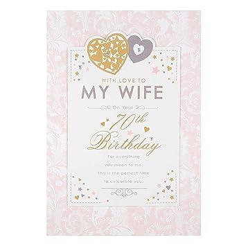 Hallmark Wife 70th Birthday Card Celebrate You
