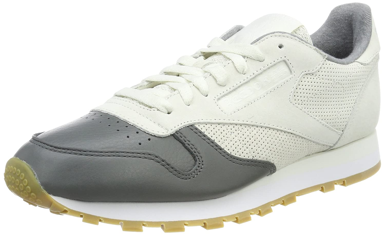 Reebok Herren Classic Leather LS Sneaker  39 EU|Grau (Chalk/Alloy/White-gum)