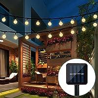 Solar String Lights Garden, 20 Ft 30 Crystal Balls Waterproof LED Fairy Lights, 8 Modes Solar Powered Lights, Decorative Lighting for Home, Garden, Party, Festival