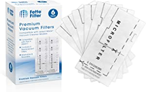 Fette Filter - Air Clean Filter Compatible with Miele Vacuum Cleaner Super 3944711. Pack of 6