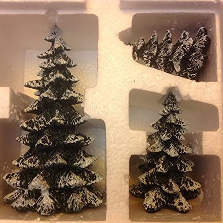 Department 56 Village Evergreen Trees Set of 3 52051