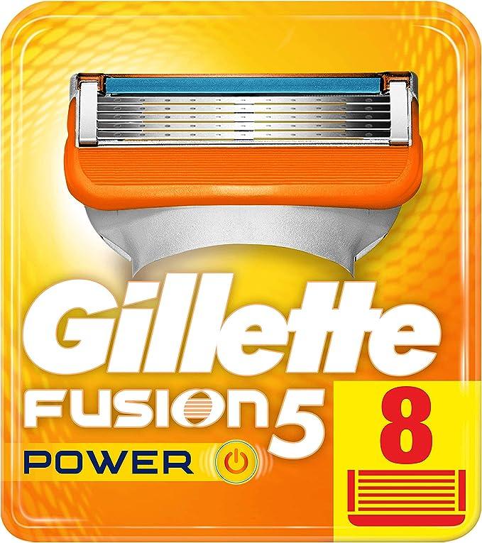 Gillette Fusion Power – Cuchillas de afeitar para hombres, 8 ...