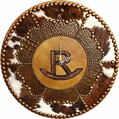 Black Forest Decor Personalized Ranch Brand Round Clock