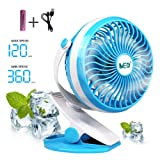 Amazon Price History for:Baby Stroller Mini Battery Operated Clip Fan,Small Portable Fan Powered by Rechargeable Battery or USB Desk Personal Car Gym Workout Camping,Blue