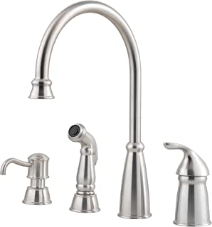 pfister avalon 1 handle 4 hole high arc kitchen faucet wside - 4 Hole Kitchen Faucet