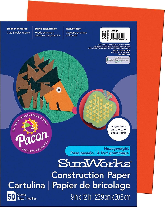 Yellow-Orange SunWorks Construction Paper 9 x 12 50 Sheets