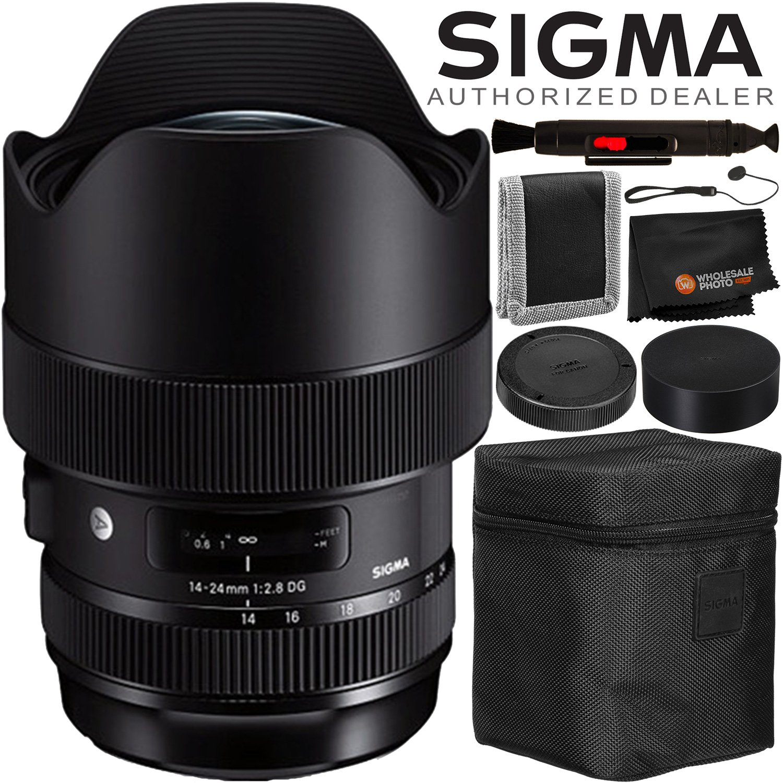Sigma 14 24mm F 28 Dg Hsm Art Lens For Canon Ef 4pc Accessory Bundle Camera Photo