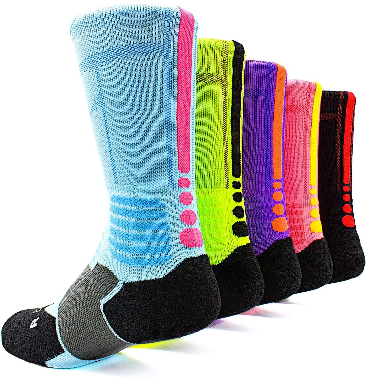 JiYe Athletic Crew Elite Socks|For Football,Basketball,Lacrosse&Other Sports|For Men & Women 2Pairs SK17201