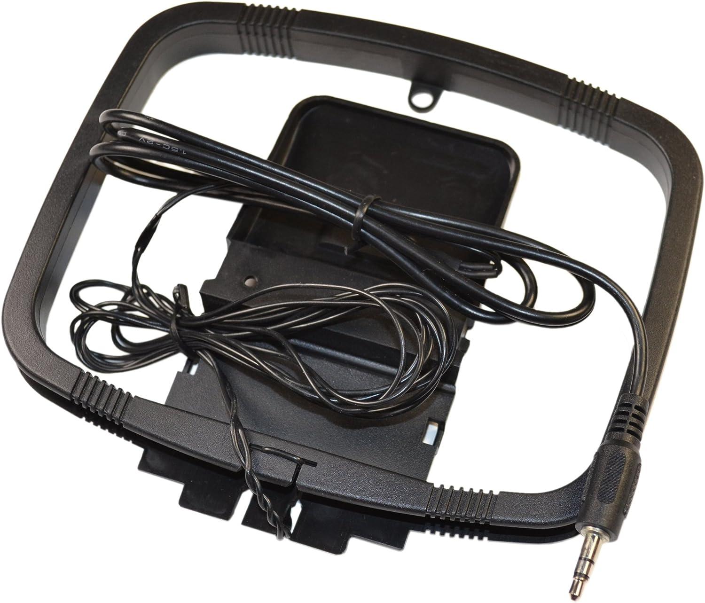 HQRP – Antena de cuadro AM Antena 1 pines conector para interior Home Audio Receptor + HQRP posavasos