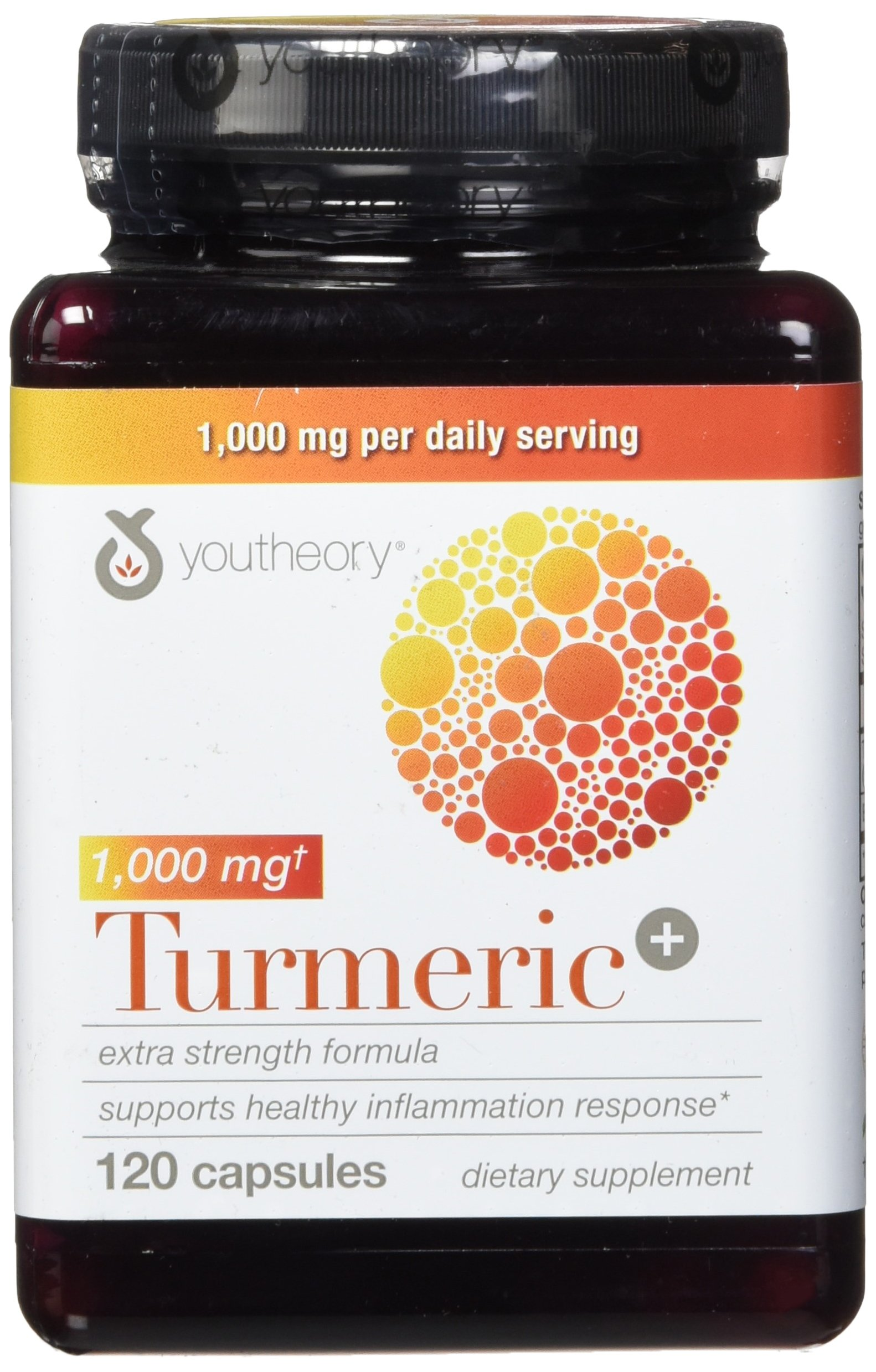Youtheory Turmeric Extra Strength Formula Capsules 1,000 mg per Daily, 120 Count