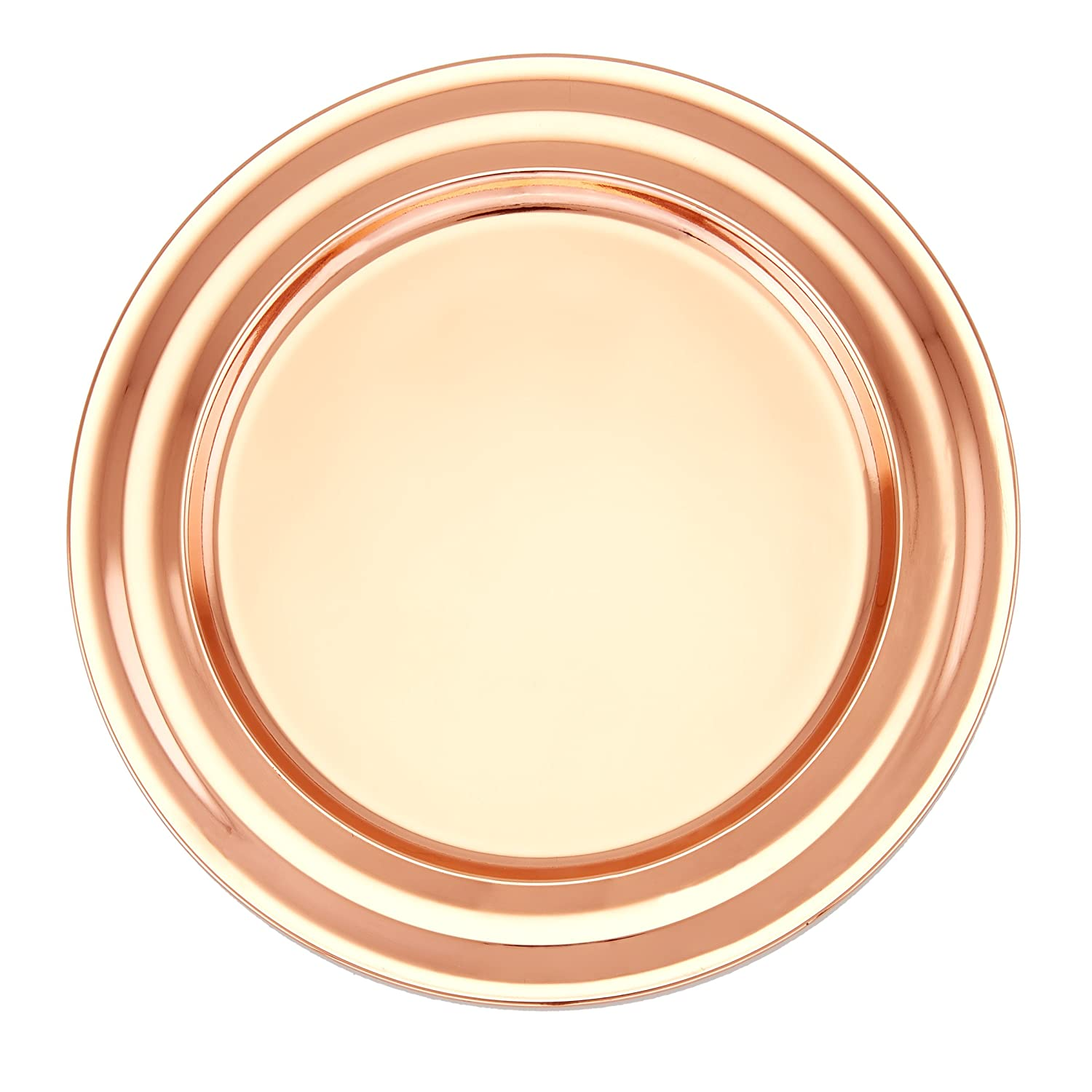 Set of 6 13 inches, Old Dutch OS968 13 Decor Copper Collar Rim Charger Plates
