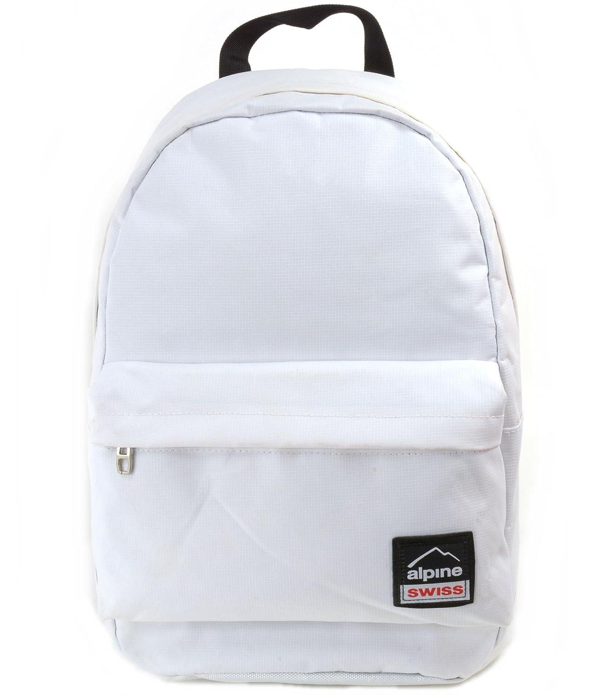 Alpine Swiss Midterm Backpack School Bag Bookbag 1 Yr Warranty White