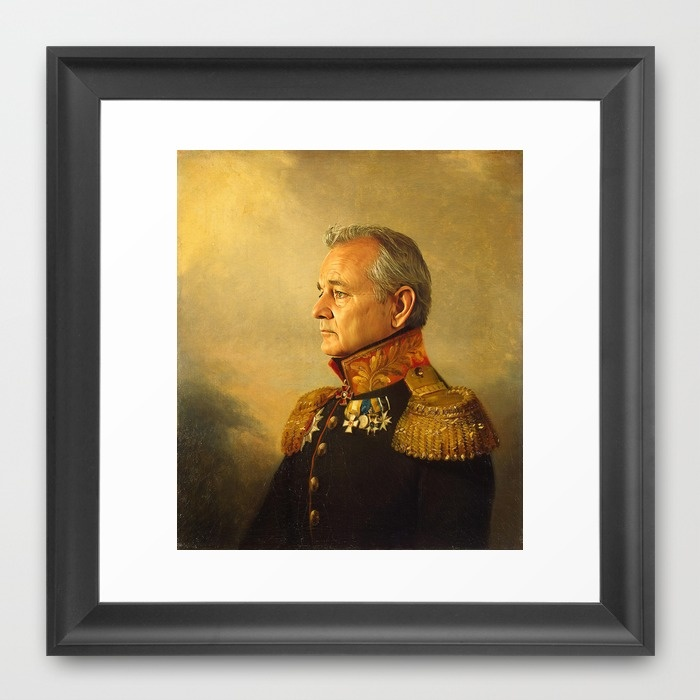 Bill Murray - replaceface Framed Art Print by Replaceface | Society6