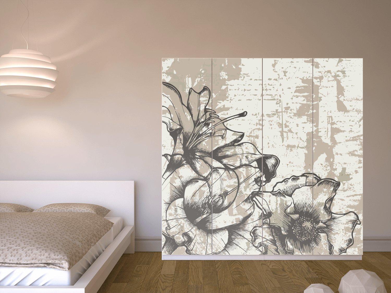 creatisto Möbelfolie IKEA Pax Schrank 201 cm Höhe - 4 Türen ...