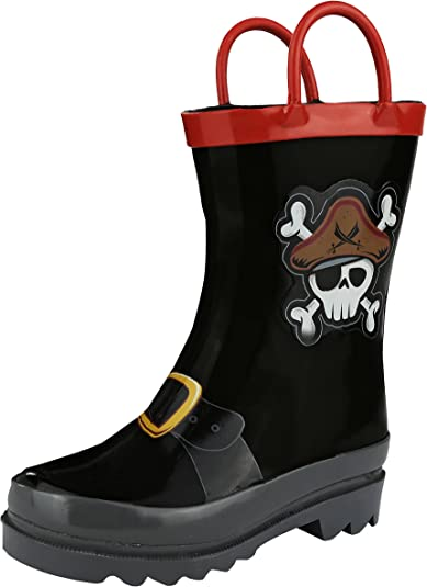 New KIDORABLE Pirate Rain Boots Boys Toddler US Size 11T 10T 9T 8T 6T Kids Shoes