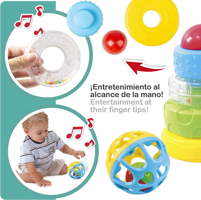 46618 Bloques construcci/ón beb/é sonajero y cubos apilables para beb/és PlayGo