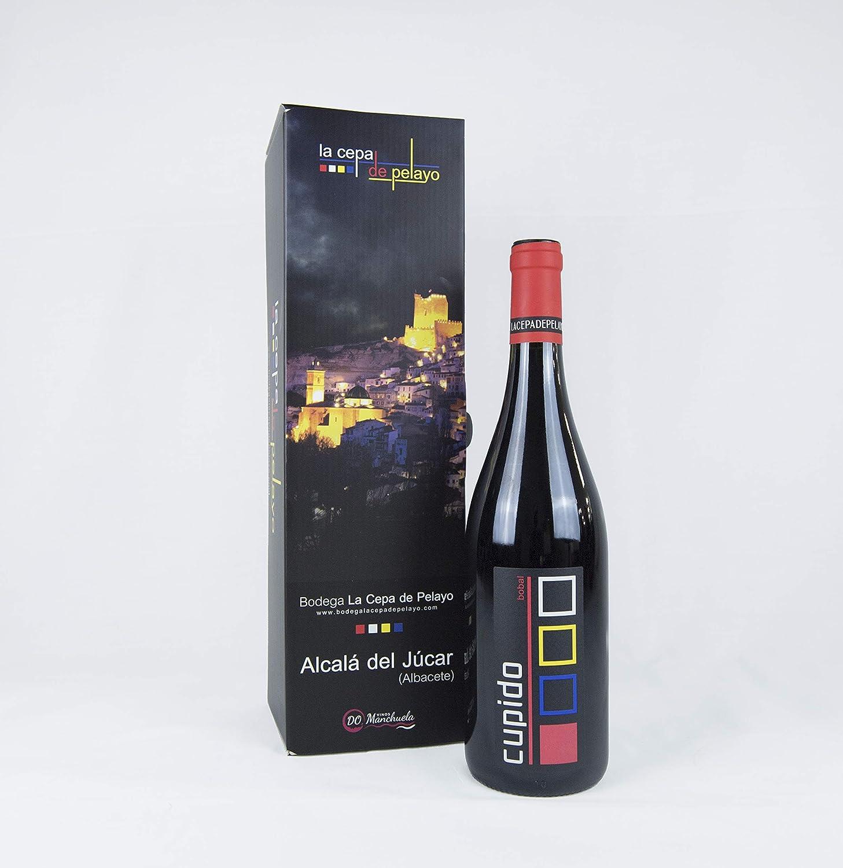 Estuche 1 botella CUPIDO- Vino Tinto 75cl - Añada 2017 D.O. Manchuela: Amazon.es: Alimentación y bebidas