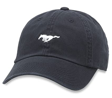 c2788ac1238c34 American Needle Micro Slouch Casual Baseball Dad Hat Ford Mustang, Black  (FORD-1705B