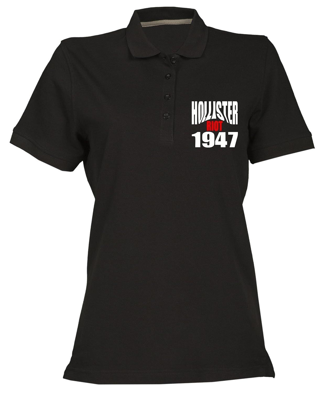 Polo para Mujer Negro OLDENG00523 Hollister Riot 1947: Amazon.es ...