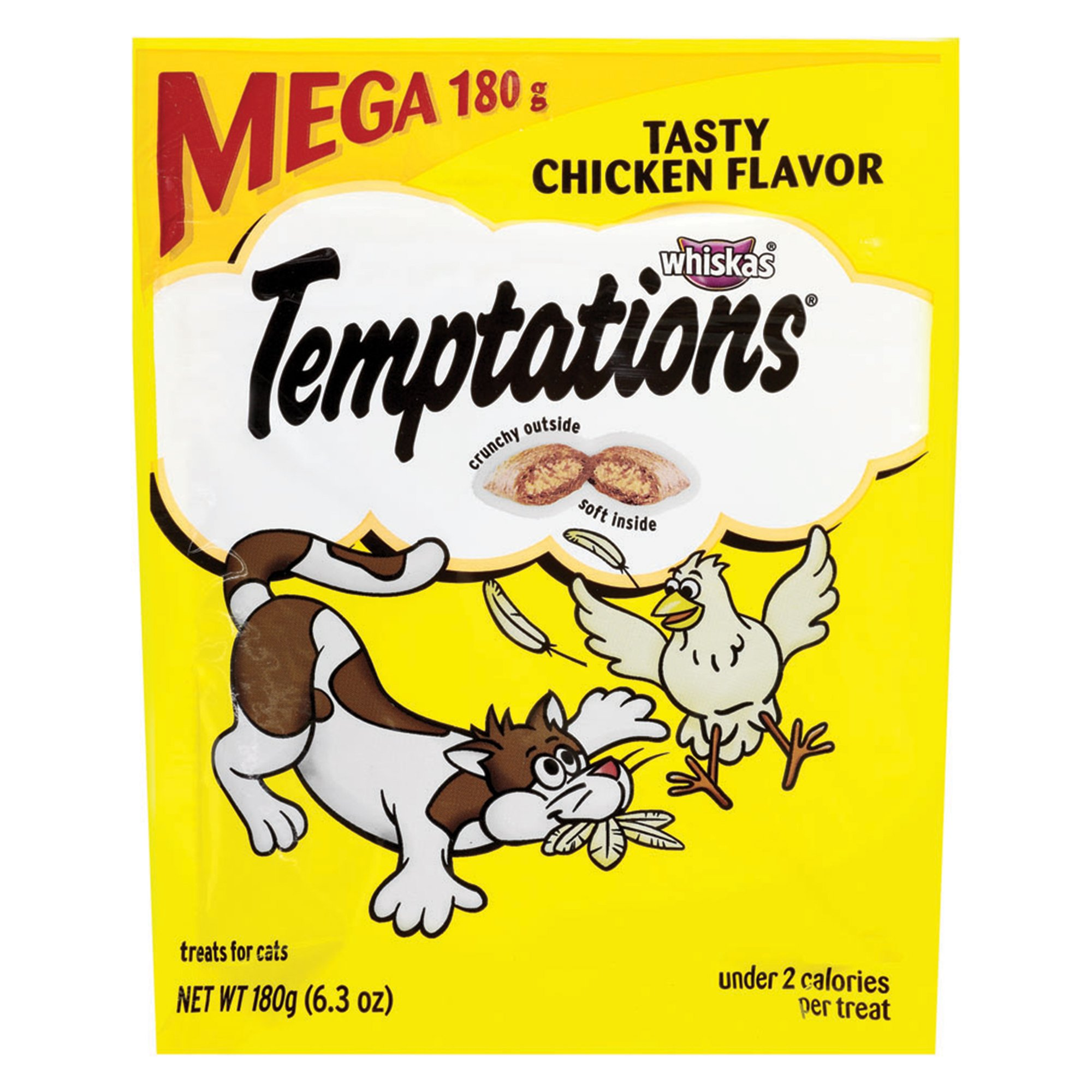 Temptations Classic Cat Treats Tasty Chicken Flavor, (10) 6.3 Oz. Pouches by Temptations