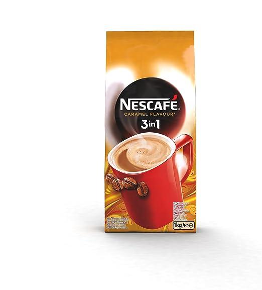 NESCAFÉ 3 en 1 - Café Soluble con Leche, Azúcar y Sabor Caramelo - 1000g