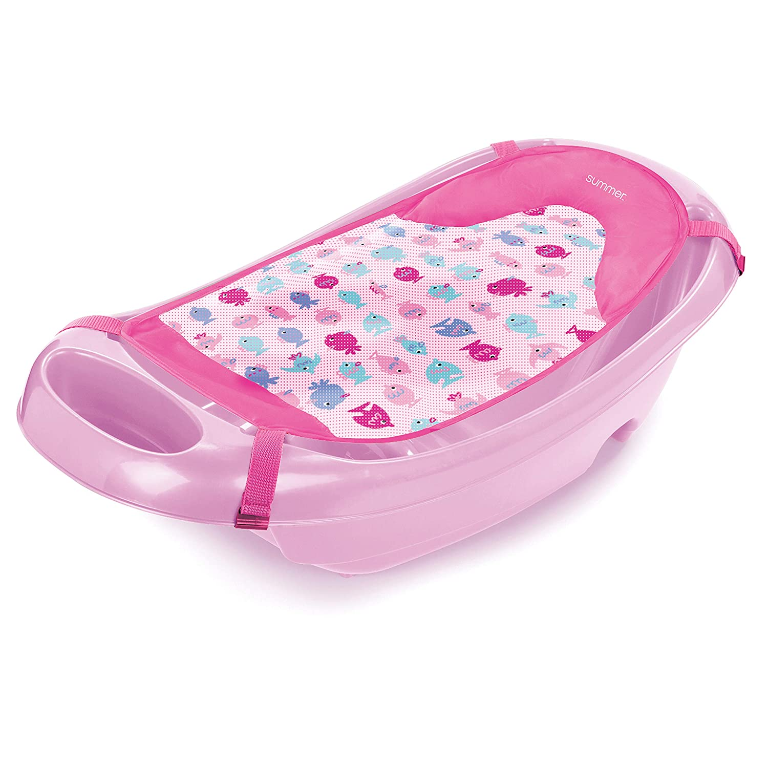 Summer Splish 'N Splash Newborn to Toddler Bath Tub, Pink