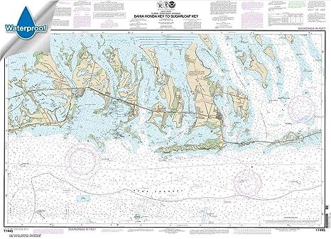 Florida West Coast Intracoastal Waterway Map.Amazon Com Noaa Chart 11445 Intracoastal Waterway Bahia Honda Key
