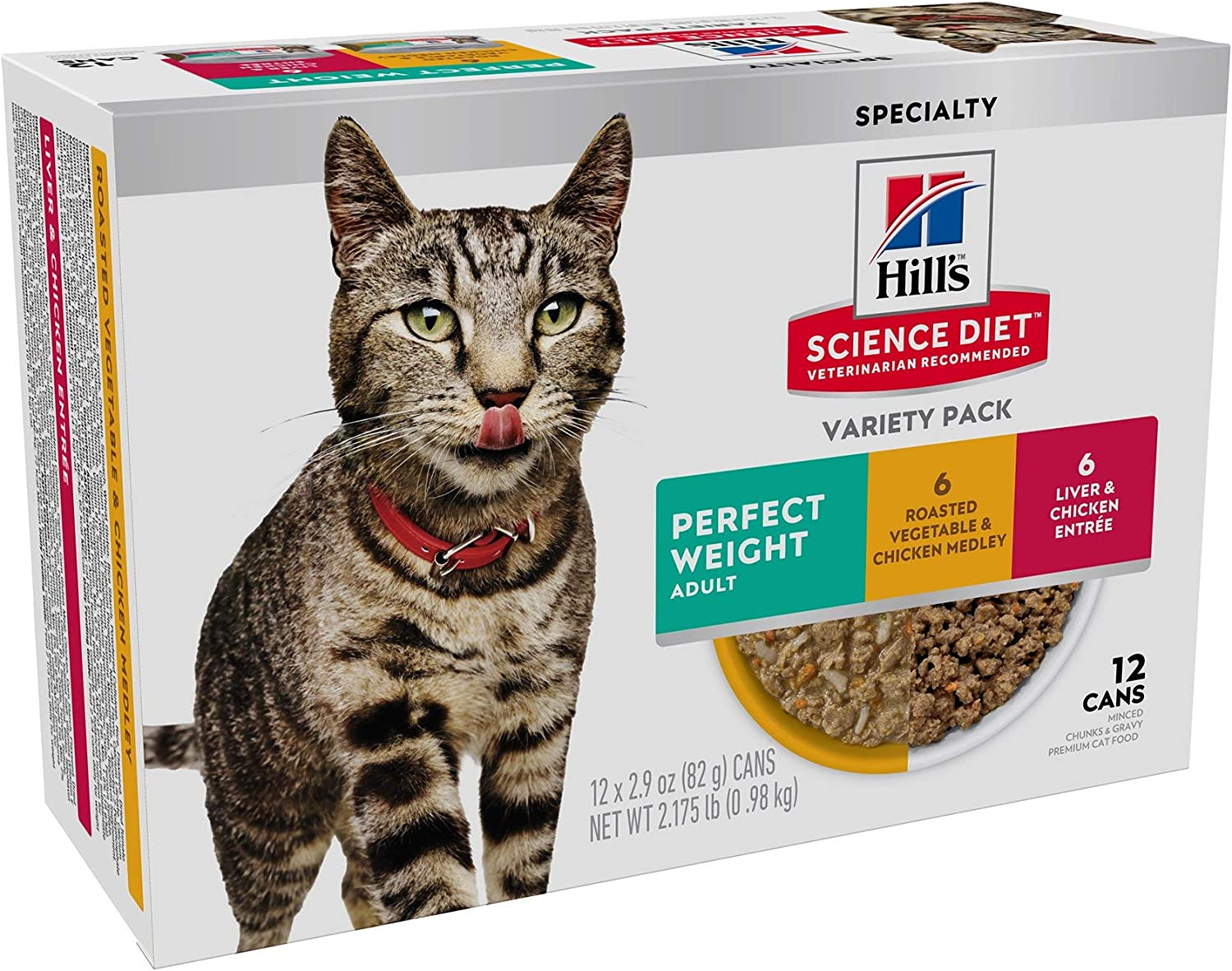 Hill's Science Diet Adult Perfect Weight Wet Cat Food Variety Pack
