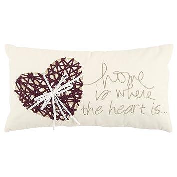 Amazon.com: rizzy home corazón relleno de fibra de poliéster ...