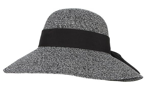 b7195c13d72dc La Vogue Ladies Bucket Sun Hat Flower Cloche Bowler Wide Brim Beach Cap  Black  Amazon.co.uk  Clothing