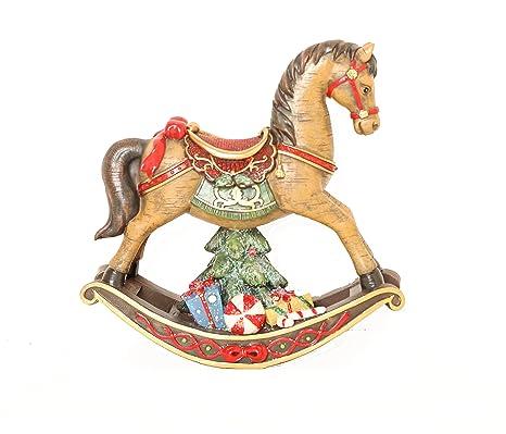 Cavallo A Dondolo Legno Natalizio.Cavallo A Dondolo Natale Amazon It Casa E Cucina