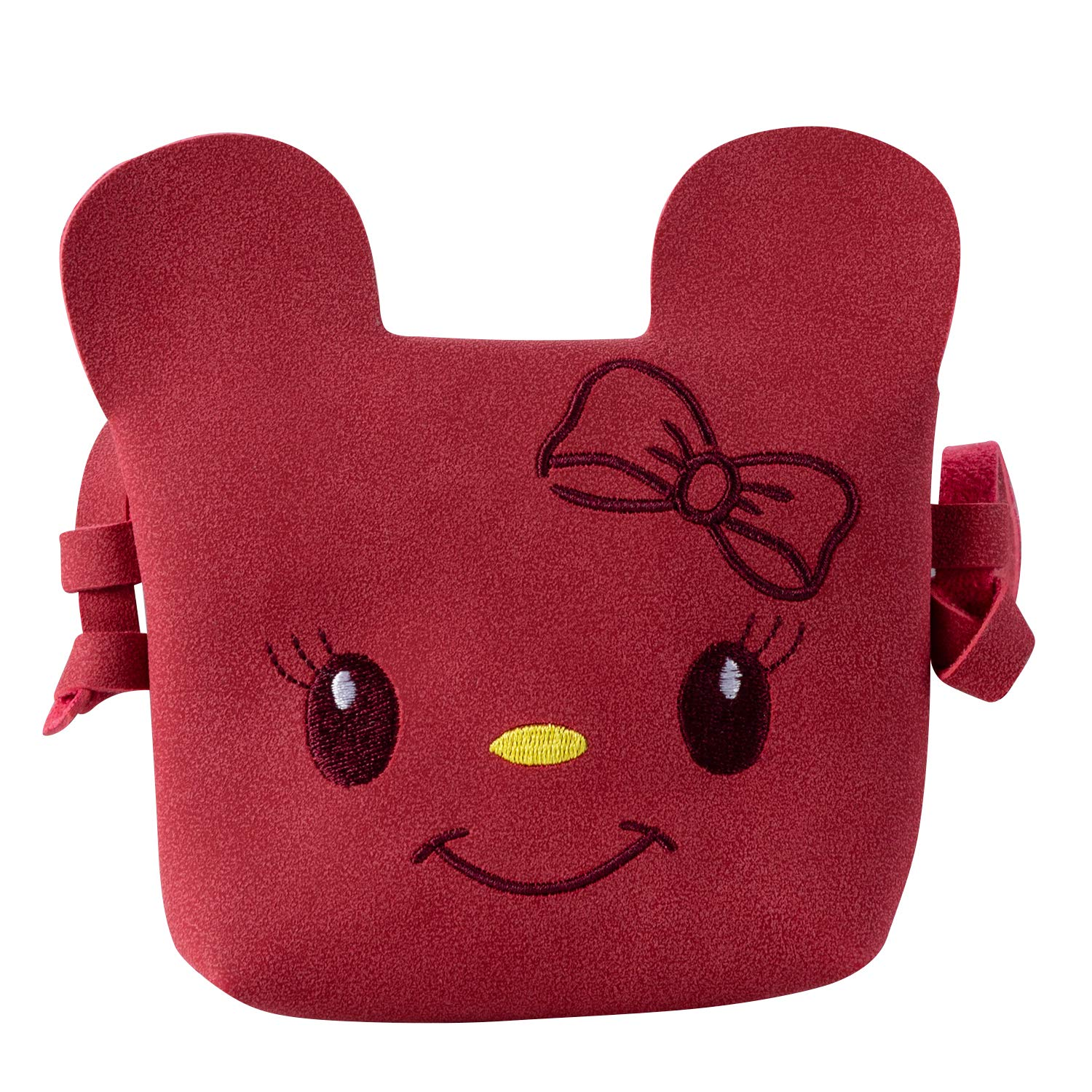 18229d8419 Amazon.com  Deoot Red Little Girls Purse Cute Cartoon Shoulder Crossbody Bag  for Kids