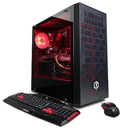 CYBERPOWERPC Gamer Master GMA6400CPG Gaming PC (AMD Ryzen 7 2700X 3.7GHz CPU,16GB
