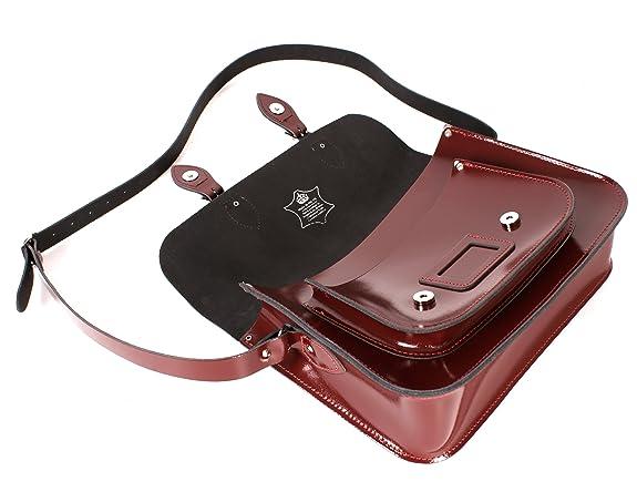 Oxbridge Satchels - Bolso estilo cartera de Piel para mujer rojo: Amazon.es: Zapatos y complementos