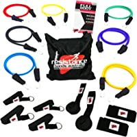Resistance Bands Ultimate Workout System - 17pc Set Comes with Premium Quality Fitness Exercise Tubes and Heavy Duty Components - This Total Home Gym Allows You to Tone and Sculpt Your Entire Body