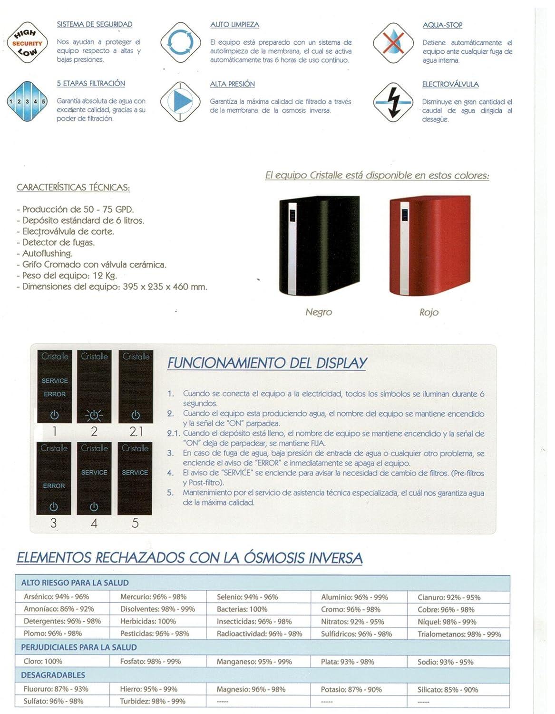 SISTEMA OSMOSIS INVERSA COMPACTA CON PANEL DE CONTROL DIGITAL: Amazon.es: Hogar