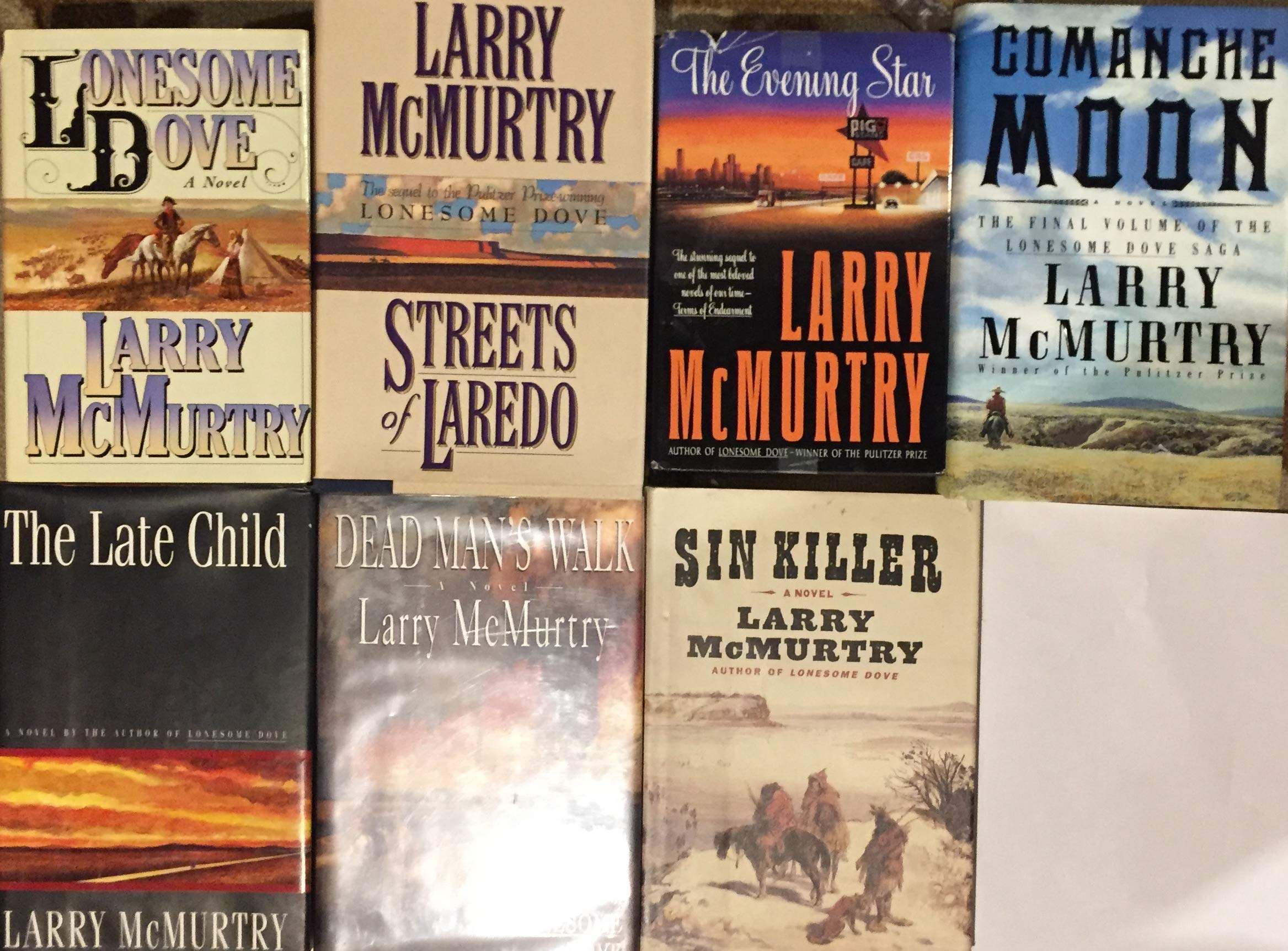 mcmurtry lonesome  Lonesome Dove Hardcover Novel Collection by Larry McMurtry 7 Book ...