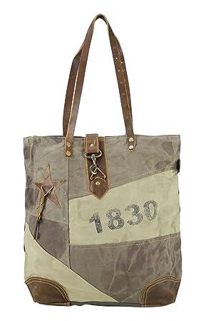mujer bolsa de mensajero vintage bolsa cruzada de lona ...