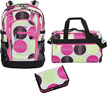 db7ebf680db7d Basic 4You School Rucksack Set 3 Pieces Jump 531 dots 531 dots   Amazon.co.uk  Office Products