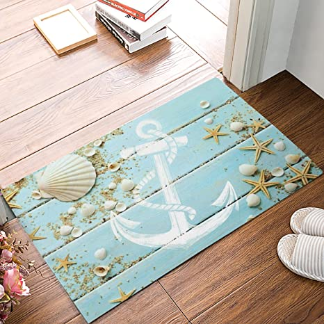 Superieur KAROLA Indoor Outdoor Kitchen Floor Bathroom Thin Mats Rug Front Door Mat  Non Slip (30u0026quot