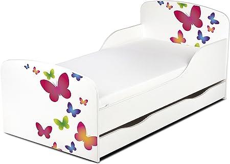colore: rosa Baby Dreams con materasso e cassetto lettino singolo da bambina