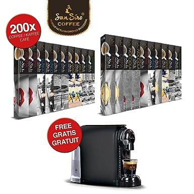 Set de placer único: 200 cápsulas de café SanSiro Nr. 1 + máquina de