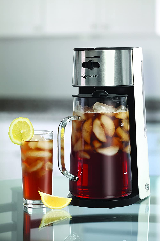 Capresso 624.02 Ice Tea Maker, White/Stainless Capresso Kitchenware