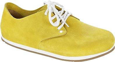 BIRKENSTOCK Schuhe Maine Aus Echt Leder in Softy Yellow mit Breitem/Normalem Fussbett und Weichbettung and With...