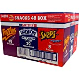 SMITHS WALKERS SNACK 48 Pack Variety BOX - 20 FRAZZLES Crispy Bacon, 20 CHIPSTICKS Salt 'N' Vinegar Flavour, SNAPS Spicy Tomato Flavour
