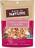 Back to Nature Cashew Almond Pistachio Mix, 9 Ounce