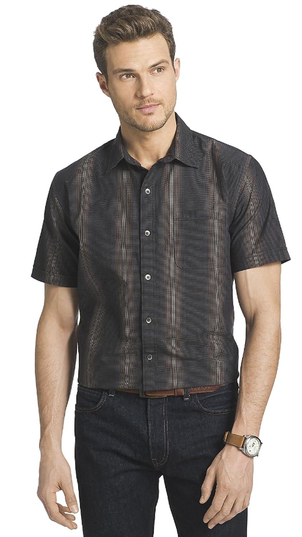 c8c27754 Van Heusen Men's Desert Textured Short-Sleeve Button-Down Shirt at Amazon  Men's Clothing store: