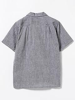 Short Sleeve Cotton Linen Camp Shirt 11-01-0739-139: Black