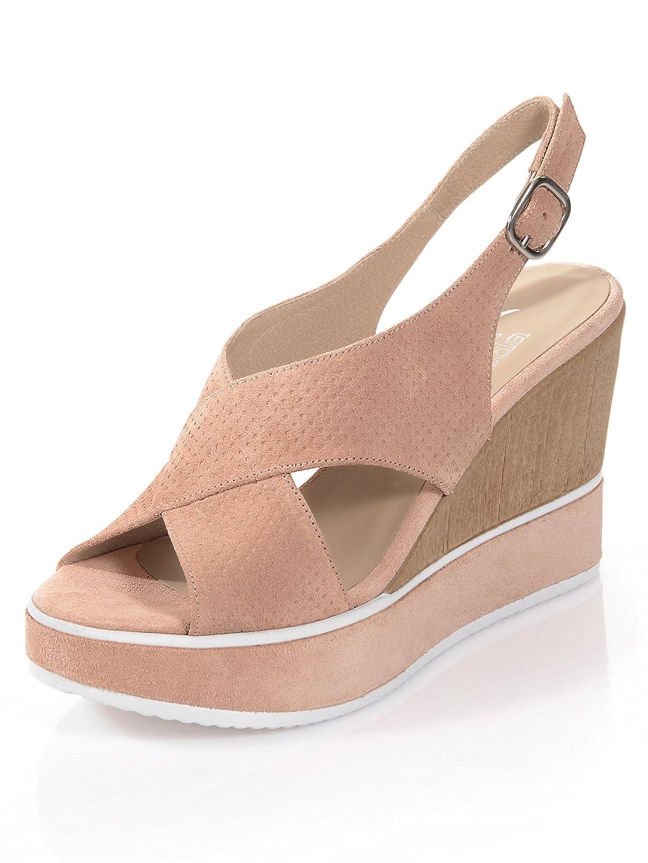 Alba Moda Damen Sandalette mit geprägtem Lochmuster: Amazon